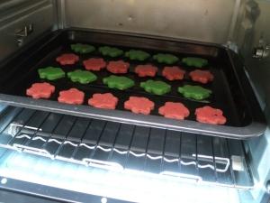 bake in 140-150 C around 15 minutes