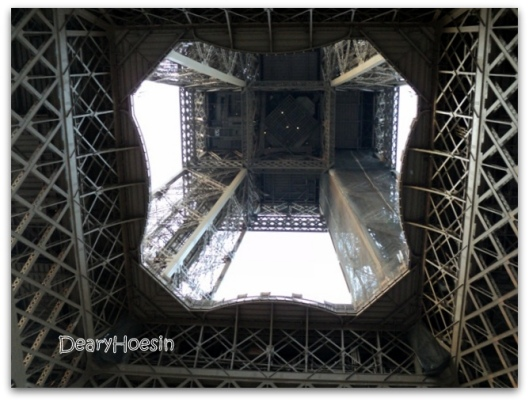This is Eiffel, taken from down bottom. Ugly? yes it is :D