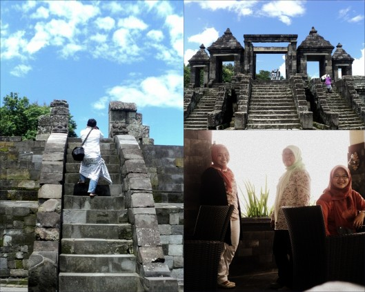 Reruntuhan candi Ratu Boko, photographer on duty, kami