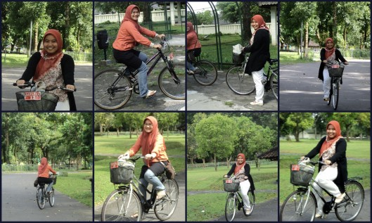 Bersepeda keliling komplek candi Prambanan