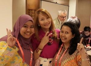 saya, Yenni, dan walikota Catbalogan-Phillipine, Miss Stephany